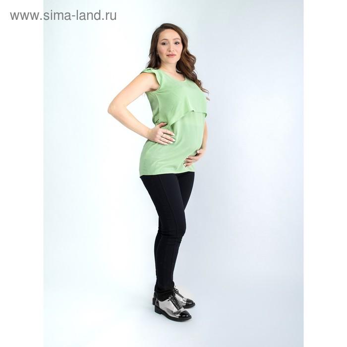Туника женская для беременных, размер 44, рост 168, цвет фисташковый (арт. 0373)