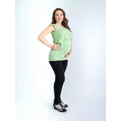 Туника женская для беременных, размер 48, рост 168, цвет фисташковый (арт. 0373)