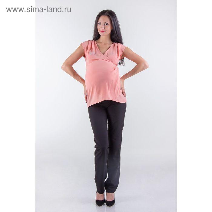 Туника женская для беременных, размер 44, рост 168, цвет персиковый (арт. 0370)