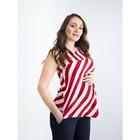 Туника женская для беременных, размер 50, рост 168, цвет красная полоска (арт. 0362)
