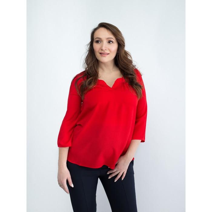 Блузка женская для беременных, размер 44, рост 168, цвет красный (арт. 0348)