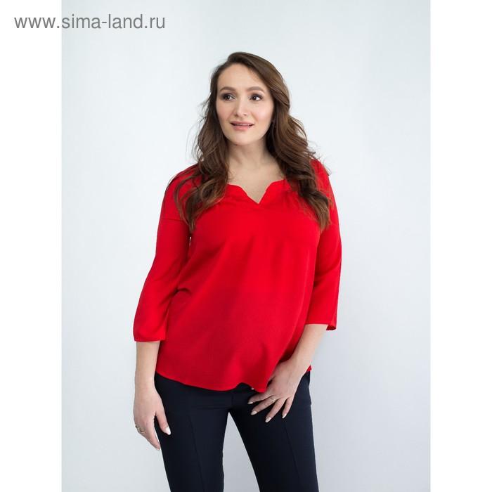 Блузка женская для беременных, размер 50, рост 168, цвет красный (арт. 0348)