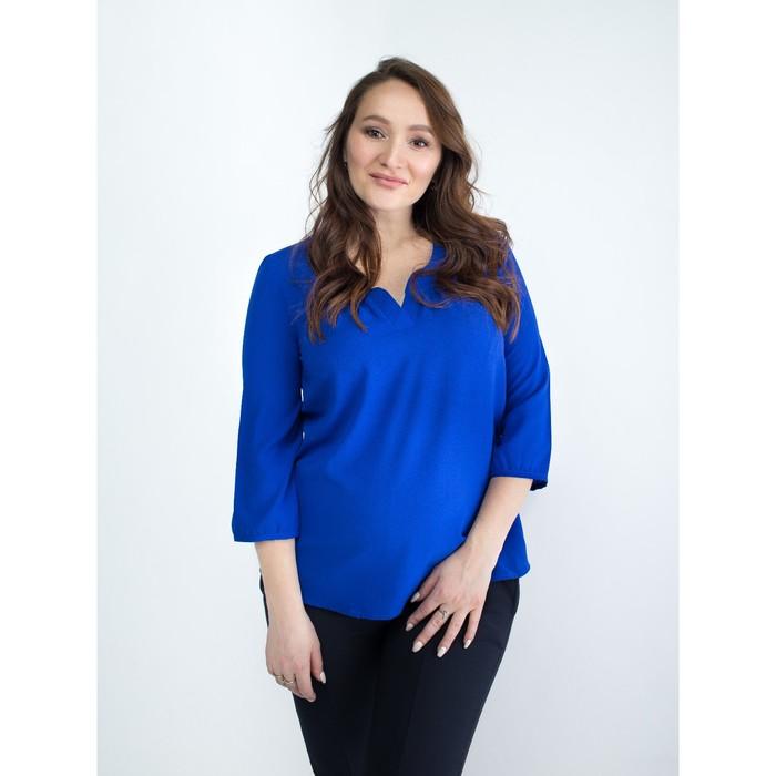 Блузка женская для беременных, размер 44, рост 168, цвет васильковый (арт. 0348)