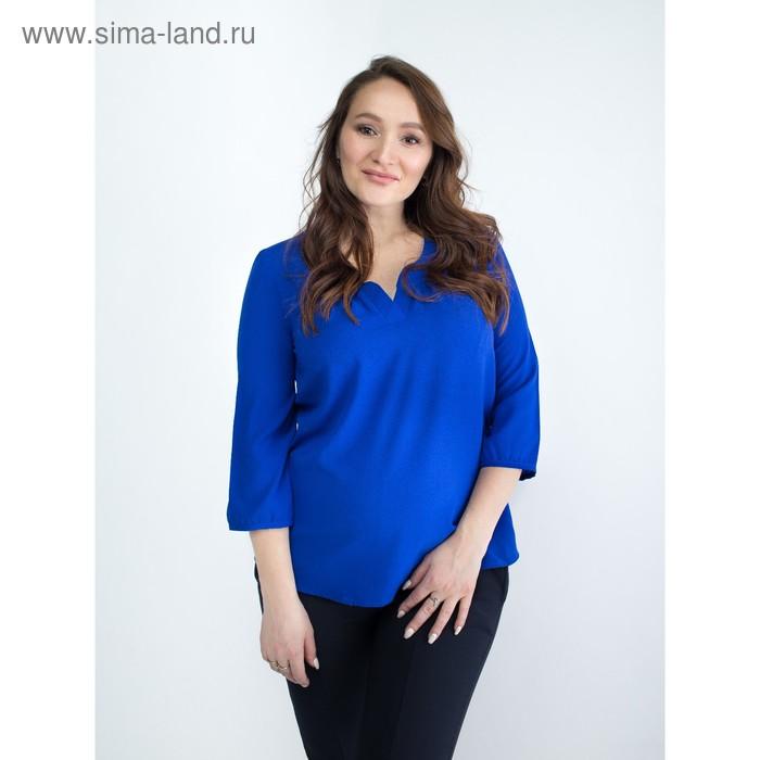 Блузка женская для беременных, размер 48, рост 168, цвет васильковый (арт. 0348)
