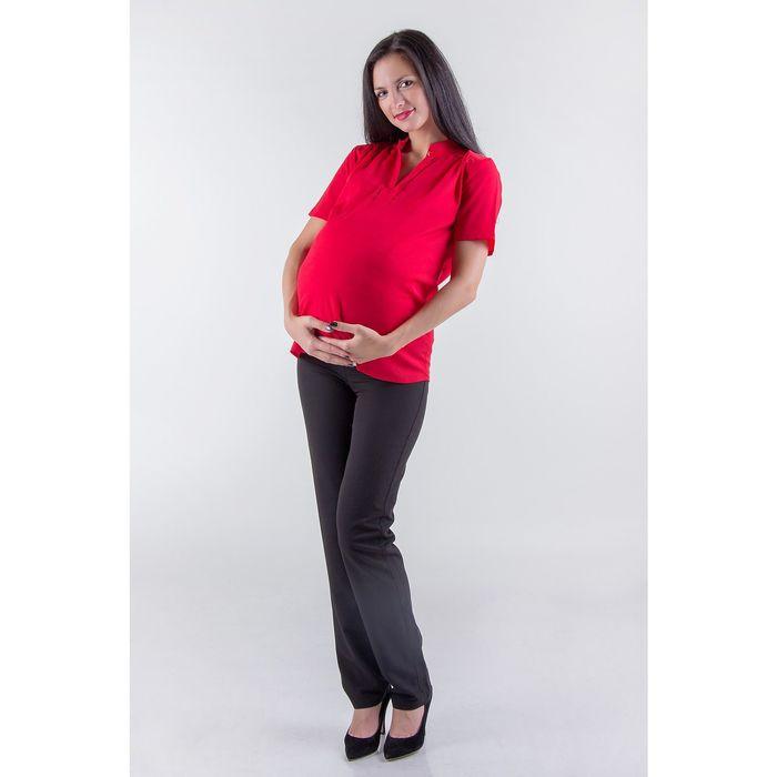 Блузка женская для беременных, размер 44, рост 168, цвет красный (арт. 0307)