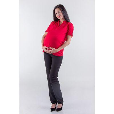 Блузка женская для беременных, размер 50, рост 168, цвет красный (арт. 0307)