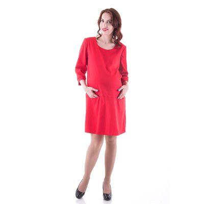 Платье женское для беременных, размер 44, рост 168, цвет красный (арт. 0332)