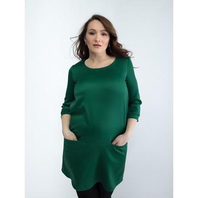 Платье женское для беременных, размер 44, рост 168, цвет зеленый (арт. 0332)