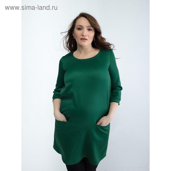 Платье женское для беременных, размер 46, рост 168, цвет зеленый (арт. 0332)