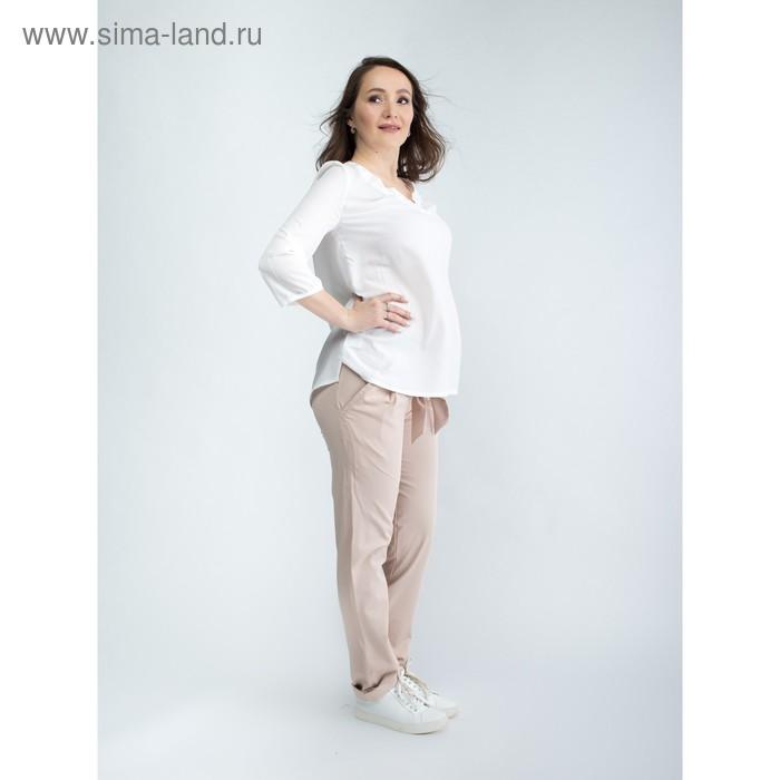 Брюки женские для беременных, размер 48, рост 168, цвет бежевый (арт. 0231)