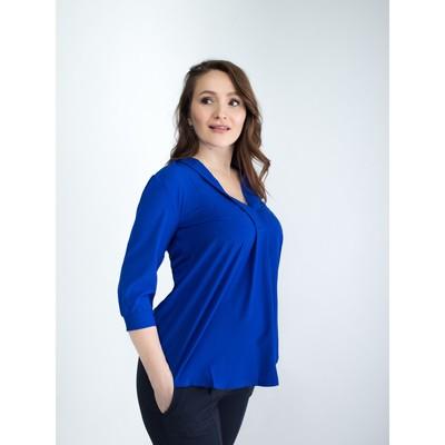 Блузка женская для беременных, размер 44, рост 168, цвет васильковый (арт. 0286)