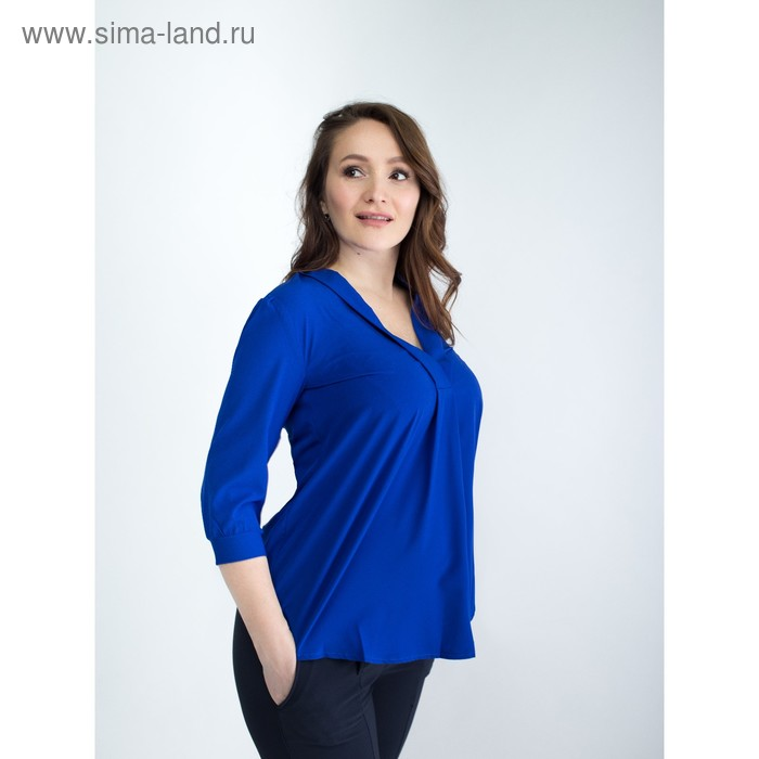 Блузка женская для беременных, размер 50, рост 168, цвет васильковый (арт. 0286)