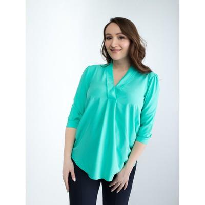 Блузка женская для беременных, размер 50, рост 168, цвет ментоловый (арт. 0286)