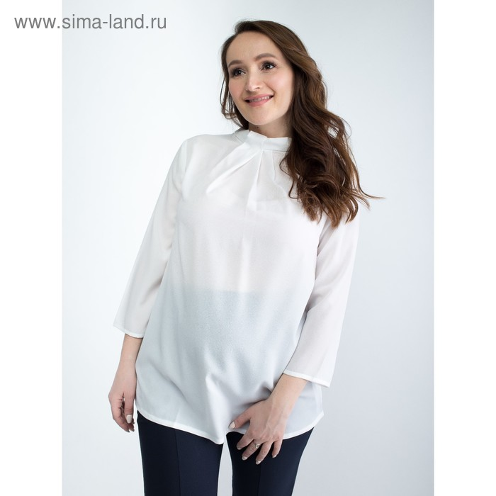 Блузка женская для беременных, размер 46, рост 168, цвет белый (арт. 0340)