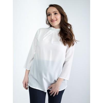 Блузка женская для беременных, размер 48, рост 168, цвет белый (арт. 0340)