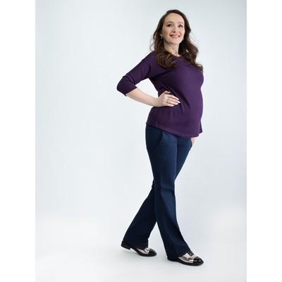 Брюки женские для беременных, размер 54, рост 168, цвет синий (арт. 0111)