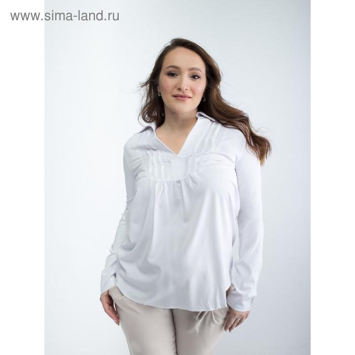 Блузка женская для беременных, размер 44, рост 168, цвет белый (арт. 0084)