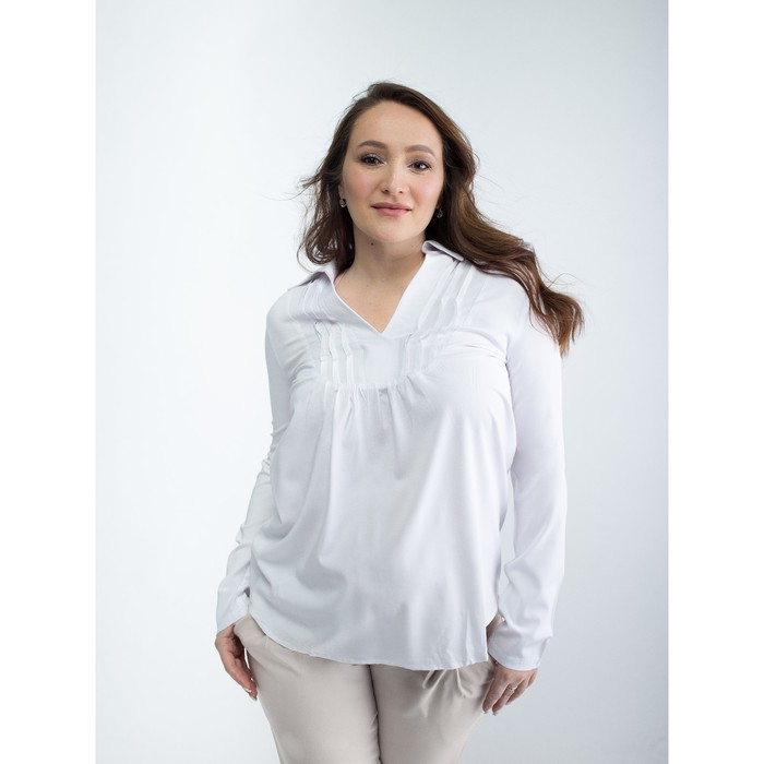Блузка женская для беременных, размер 46, рост 168, цвет белый (арт. 0084)