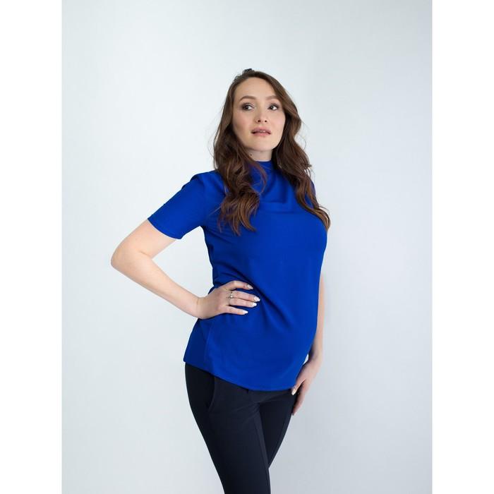 Блузка женская для беременных, размер 48, рост 168, цвет васильковый (арт. 0307)