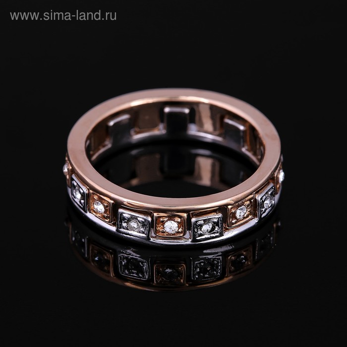 """Кольцо """"Камелот А."""", размер 17, цвет белый в золоте"""
