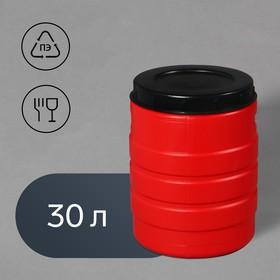 Бочка пищевая, 30 л, горловина 27 см, с крышкой, цвет МИКС