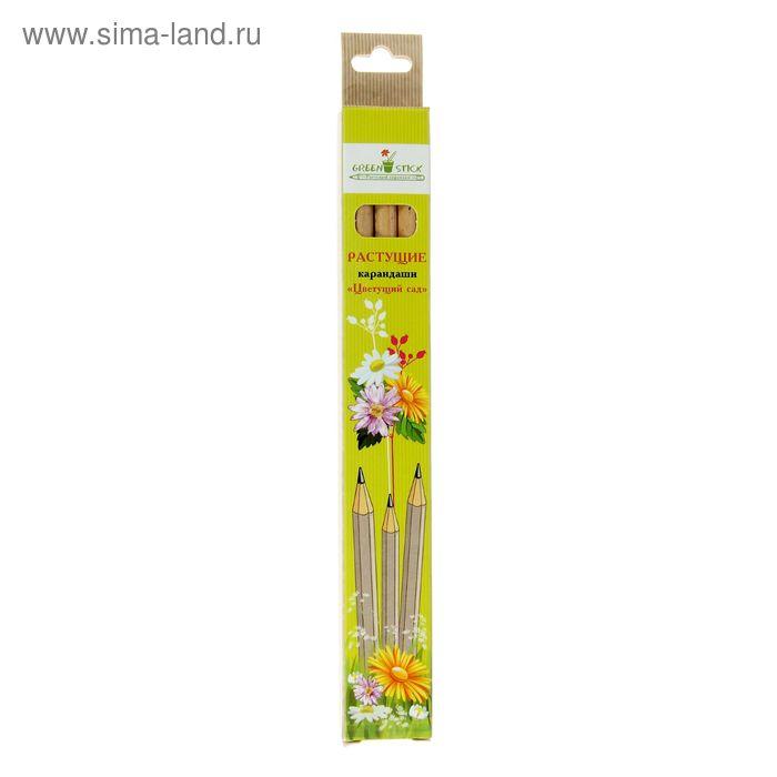 """Растущие карандаши Green Stick """"Цветущий сад"""", набор 3 шт., чёрные"""