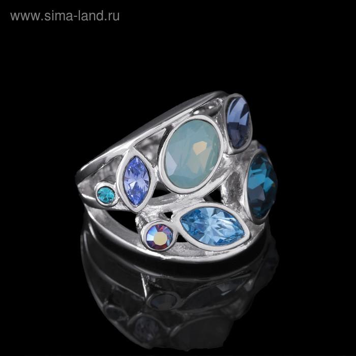 """Кольцо """"Нулви"""", размер 17, цветное в серебре"""