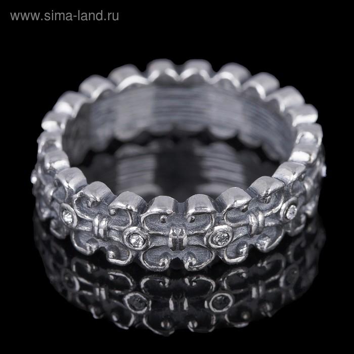 """Кольцо """"Вхатанга"""", размер 19, цвет чернёное серебро"""