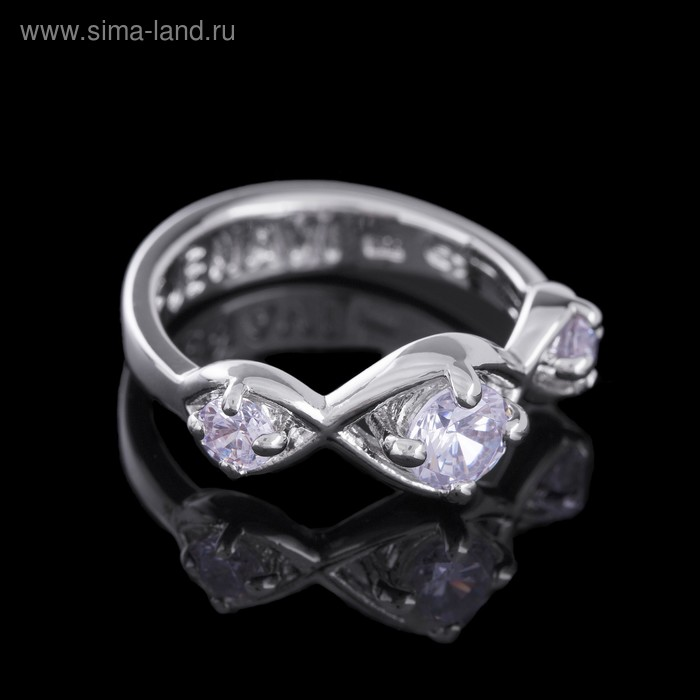 """Кольцо """"Суал"""", размер 18, цвет белый в серебре"""