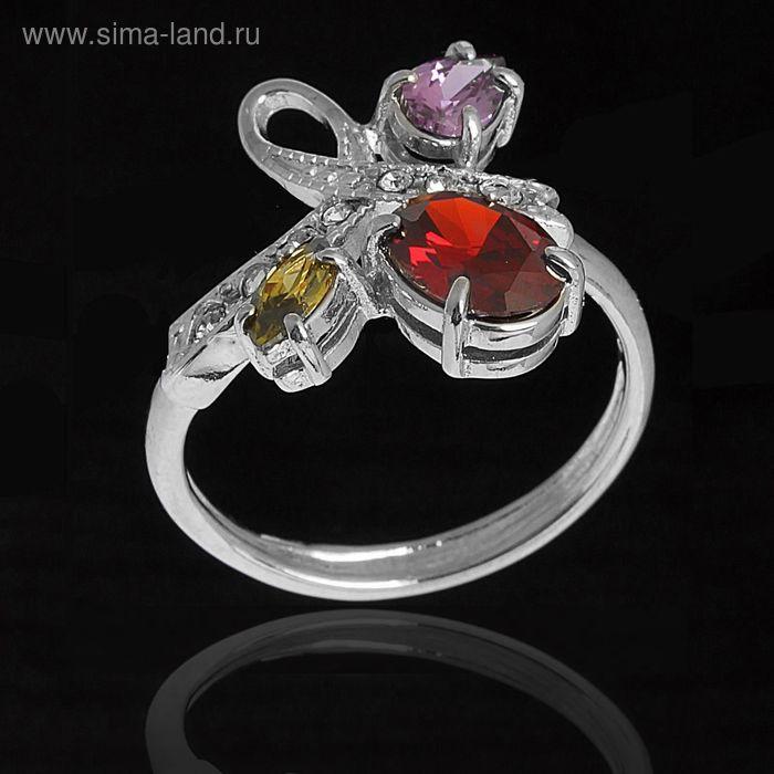 """Кольцо """"Амбон"""", размер 17, цветное в серебре"""
