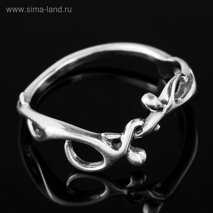 """Кольцо """"Человечки"""", размер 18, цвет чернёное серебро"""