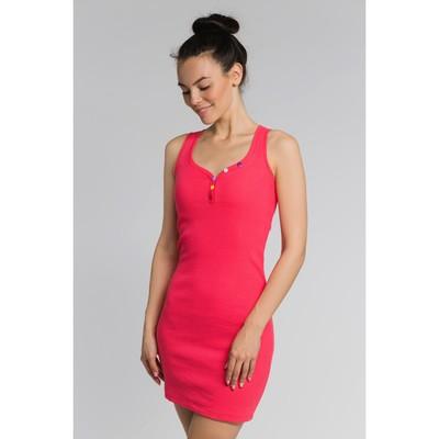 Платье женское, размер 48, цвет коралловый (М-256-15)