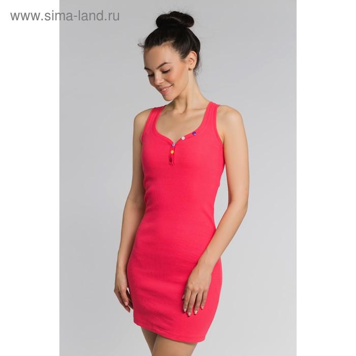 Платье женское, размер 50, цвет коралловый (М-256-15)