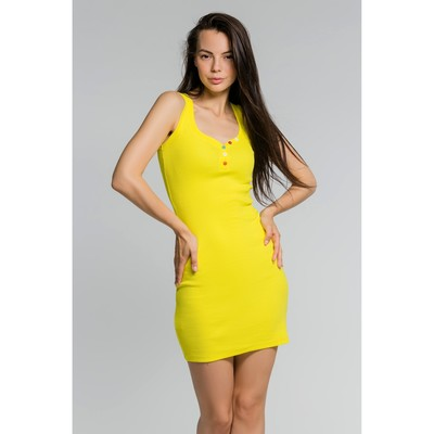 Платье женское, размер 46, цвет жёлтый (М-256-15)