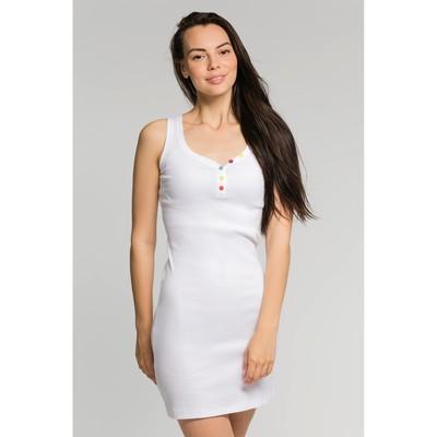 Платье женское, размер 42, цвет белый (М-256-15)