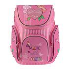 Ранец на молнии Mag Taller Boxi 38*29*19, эргономичная спинка, для девочки, With Love, розовый