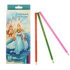 """Карандаши 12 цветов """"Русский карандаш. Сказки"""", шестигранные, длина 175мм, ok 6.4мм"""