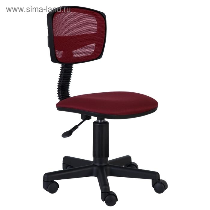 Кресло CH-299/CH/15-11 спинка сетка бордовый сиденье бордовый