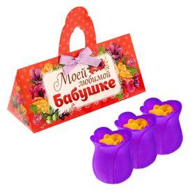 """Мыльные лепестки в коробке-сумочке """"Моей любимой бабушке"""", 3 шт."""