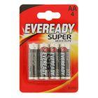 Батарейка Солевая  Eveready Super Heavy Duty, АА, R6-4BL, блистер, 4 шт.