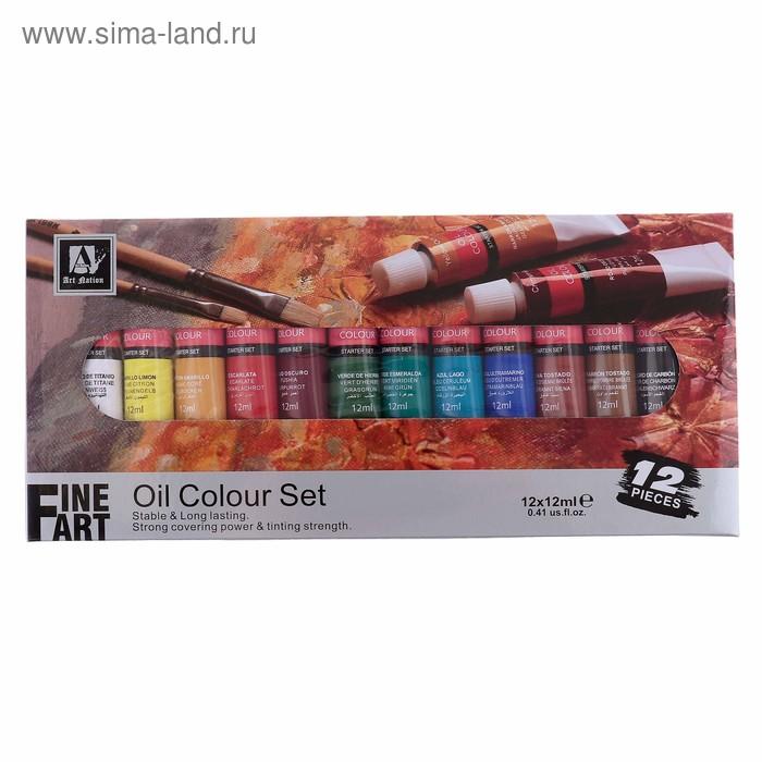 Краски масляные 12цв Art Nation, в метал тубе 12мл в карт кор