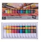 Краски гуашь 12 цветов Art Nation, в металлической тубе 12мл, в картонной коробке