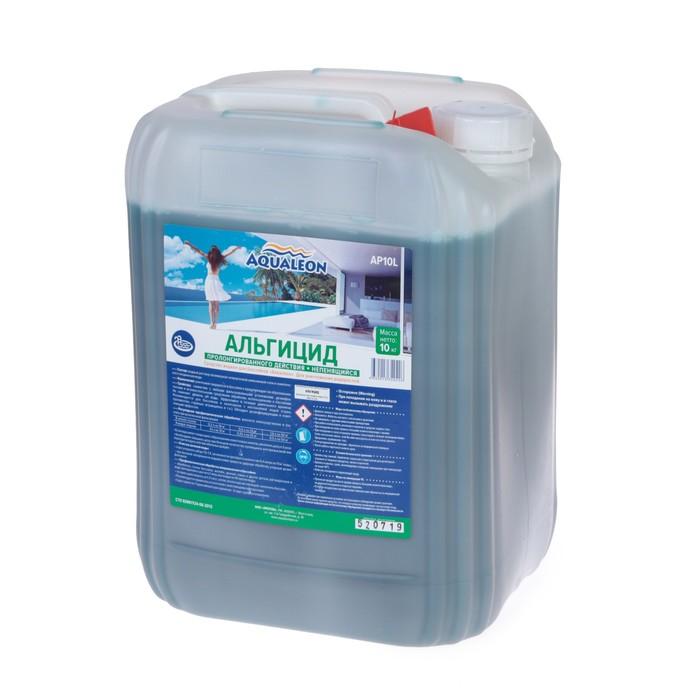 Альгицид Aqualeon непенящийся пролонгированного действия, 10 л (10 кг)
