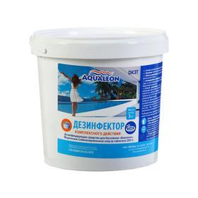 Медленный стабилизированный хлор Aqualeon комплексный таб. 200 гр., 3 кг