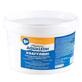 Коагулянт Aqualeon таб. 25 гр., 1,5 кг