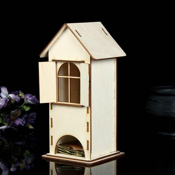Чайный домик со ставнями 24х11 см