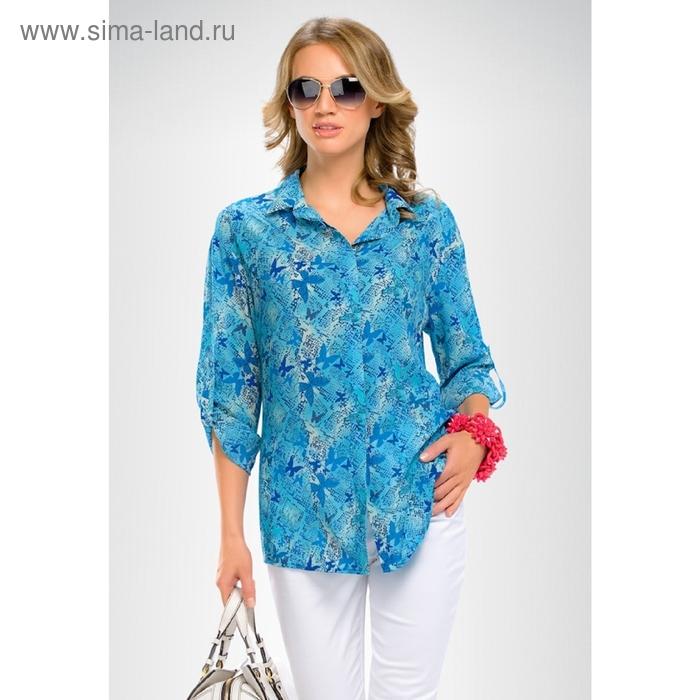 Блузка женская, размер S, цвет сине-голубой FWJX656