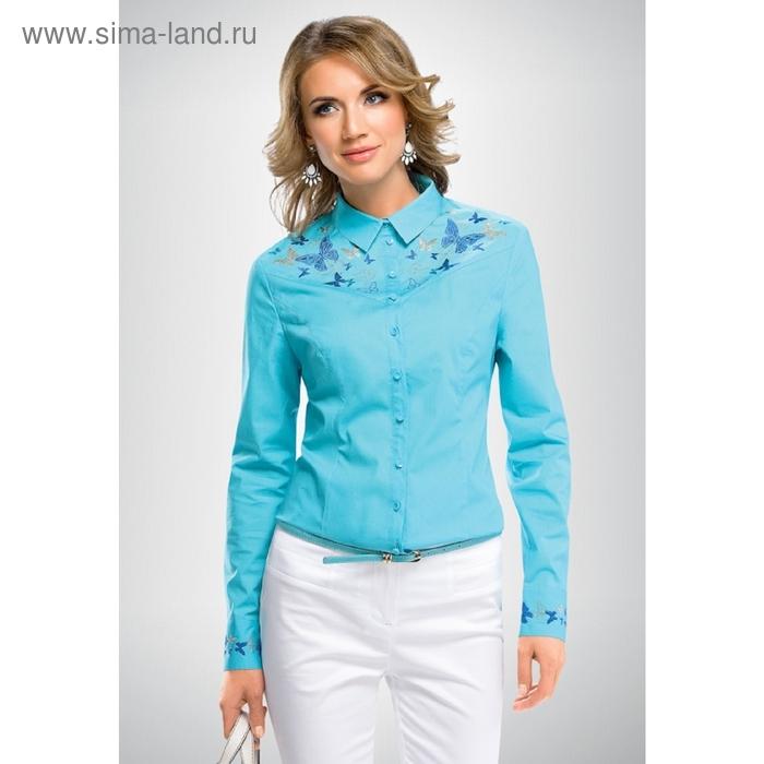 Блузка женская, размер XS, цвет голубой FWJX656/2