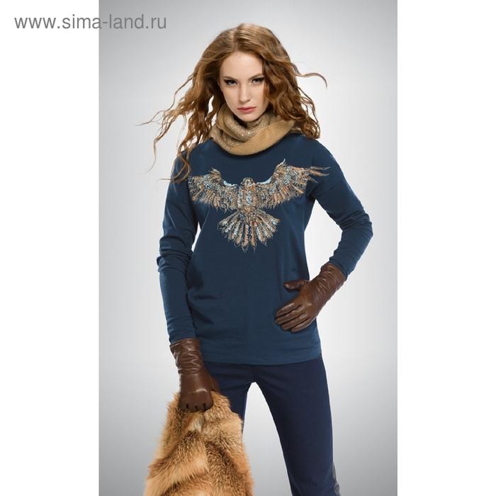 Джемпер женский, размер S, цвет сине-зелёный DJ672
