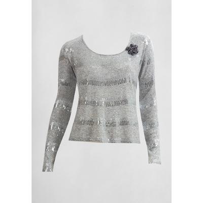 Джемпер женский, размер XS, цвет серый FJ577